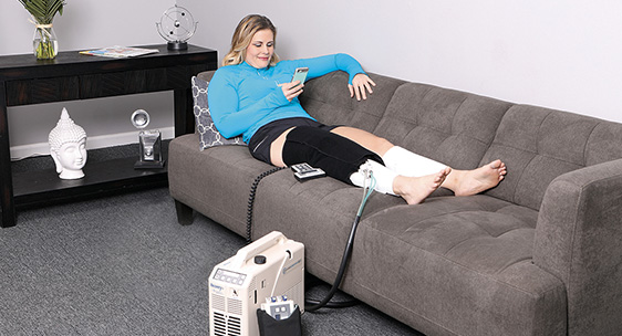 Lytle equipment for the knee, Reliever. Reduces pain and swelling.